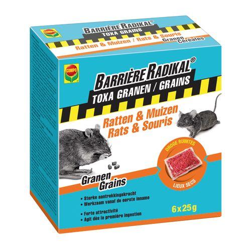 Compo anti-muizen en ratten granen Barrière Radikal Toxa 150g