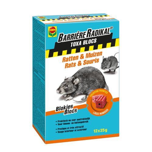 Compo anti-muizen en ratten blokjes Barrière Radikal Toxa 300g