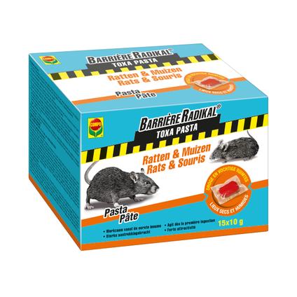 Anti-souris et rats pâte Compo Barrière Radikal Toxa 150g