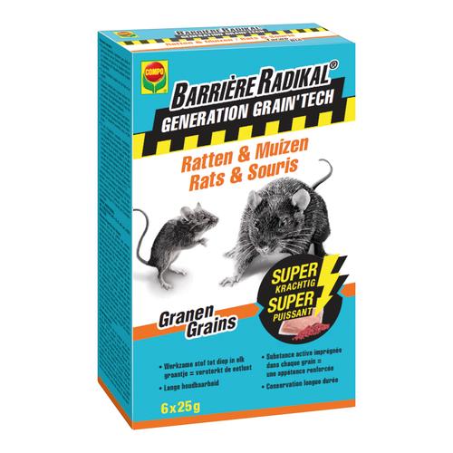 Anti-souris et rats Compo Barrière Radikal Generation Grain'Tech 150g