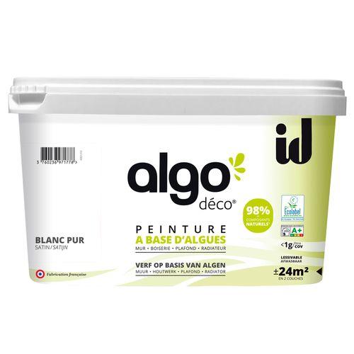 Peinture murale Algo blanc pur satiné 2L