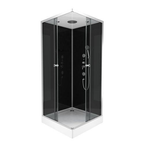 Aurlane douchecabine Black 2 vierkant 90x90cm