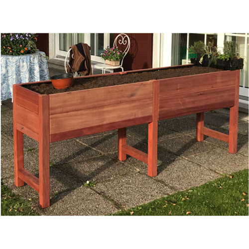 Tafelmoestuin hout 200x50x80cm