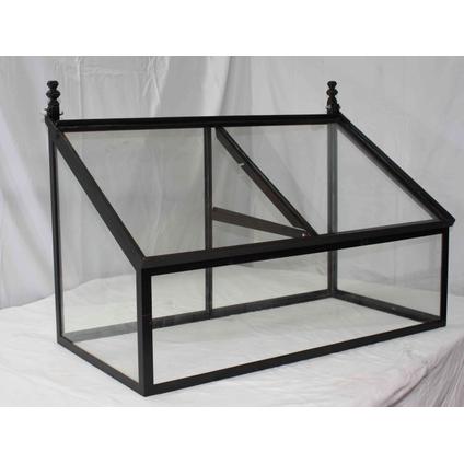 Mini serre Les Potagers De Thomas verre fer noir 100x50x60cm