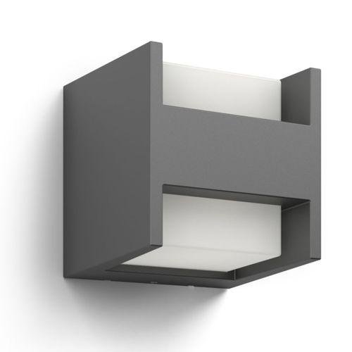 Philips wandverlichting LED Arbour grijs 2x4,5W
