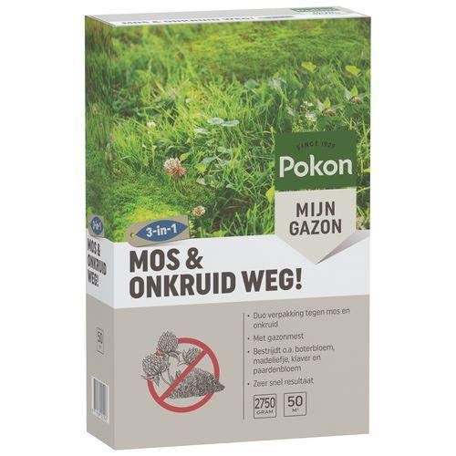 Pokon onkruid- en mosbestrijder Mos & Onkruid Weg! voor 50m²