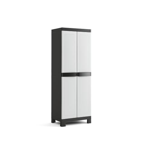 Armoire multifonctions Sencys polypropylène gris / noir 182x65x45cm