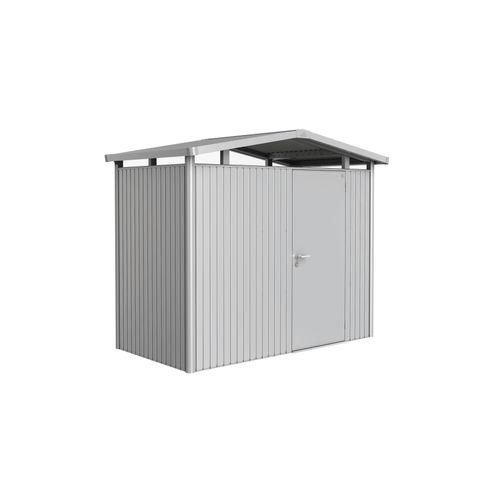 Biohort tuinhuis Panorama P1 zilver metallic standaard deur 273x158cm