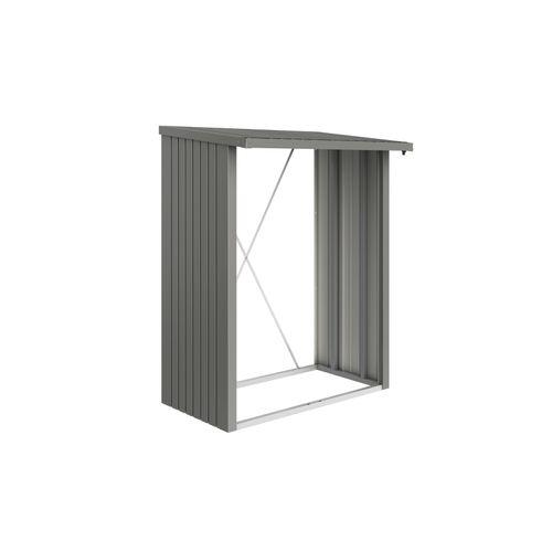 Biohort houtopslag WoodStock kwartsgrijs metallic 157x102x199cm 1,29m²