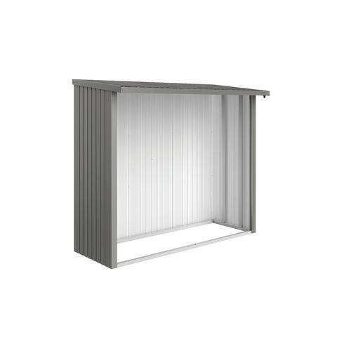 Paroi arrière Biohort Woodstock 230 gris quartz métallique 217,5x196,5cm