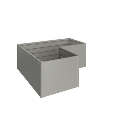 Biohort moestuinbox Gr. 2x1m kwartsgrijs metallic