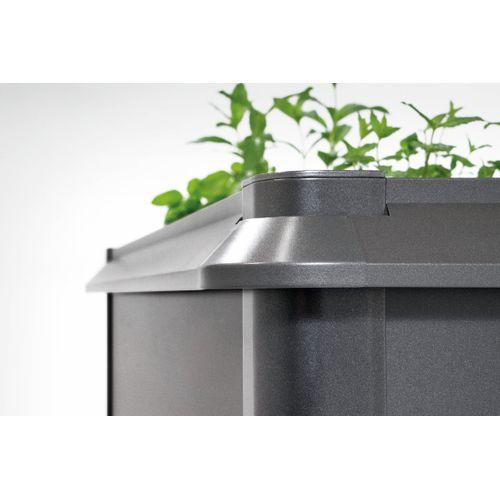 Biohort slakkenbescherming voor verhoogde bed tuin 1x1 donkergrijs metallic 108x108x6cm