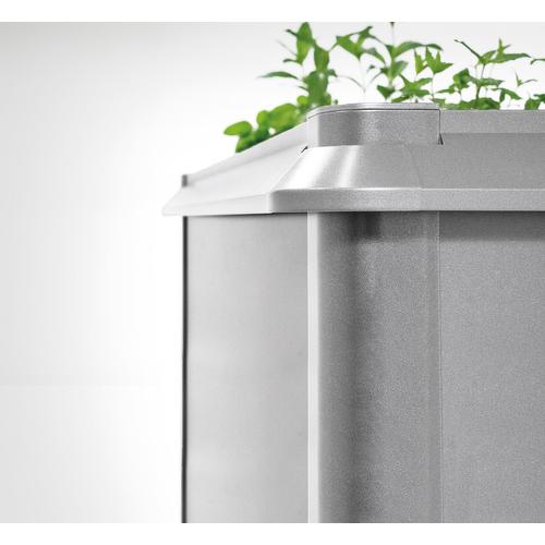 Biohort bescherming tegen slakken voor 'MoestuinBox 2x1' kwartsgrijs metallic