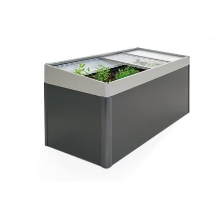 Biohort serre voor moestuinbox 2x1m kwartsgrijs metallic