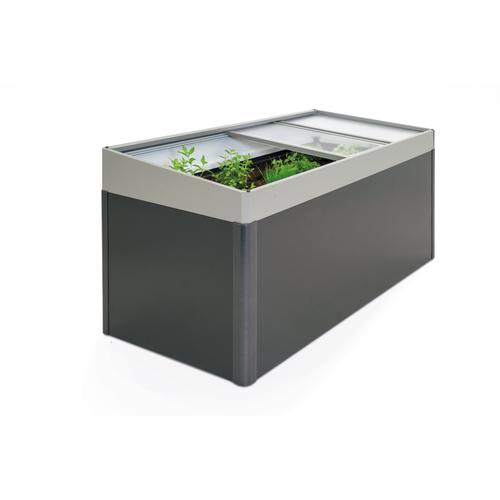Biohort serre voor 'MoestuinBox 2x1' kwartsgrijs metallic