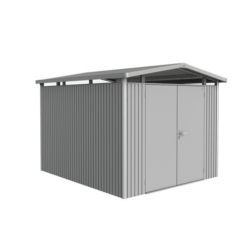Abri de jardin Biohort 'Panorama 5-2' argent métallique 7,36 m²