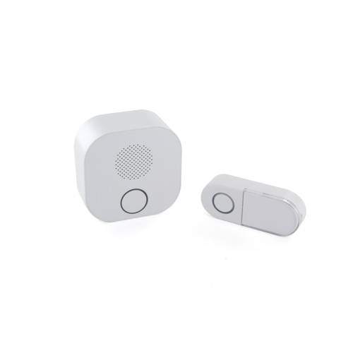 Kit sonnette sans fil DIO Design blanc 200m