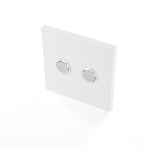 Interrupteur DiO 2 canaux sans fil blanc