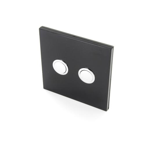 Interrupteur DiO 2 canaux sans fil noir