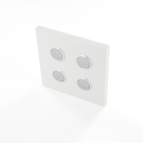 Interrupteur DiO 4 canaux sans fil blanc