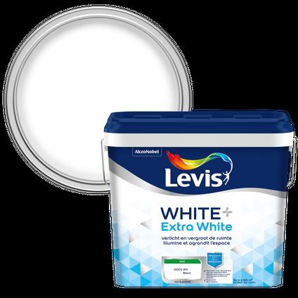 Levis muur en plafond verf 'Extra white+' puur wit mat 5L