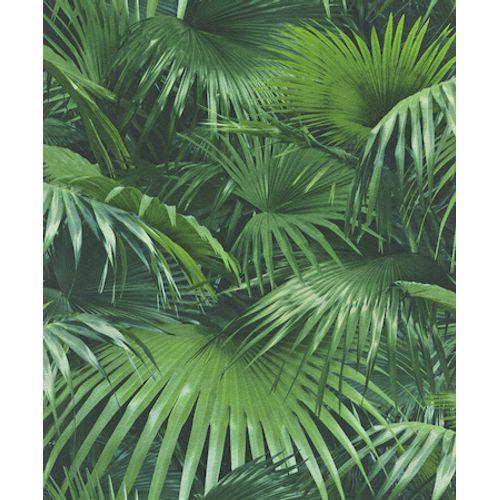 Papier peint intissé 524901 Crispy Palmier vert