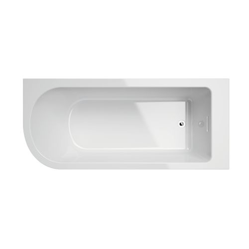 Allibert vrijstaand hoekbad Serena rechts 170x75x56cm acryl wit
