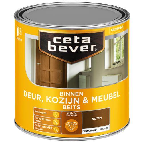 CetaBever Deur, Kozijn & Meubelbeits Noten Zijdeglans 0,25L