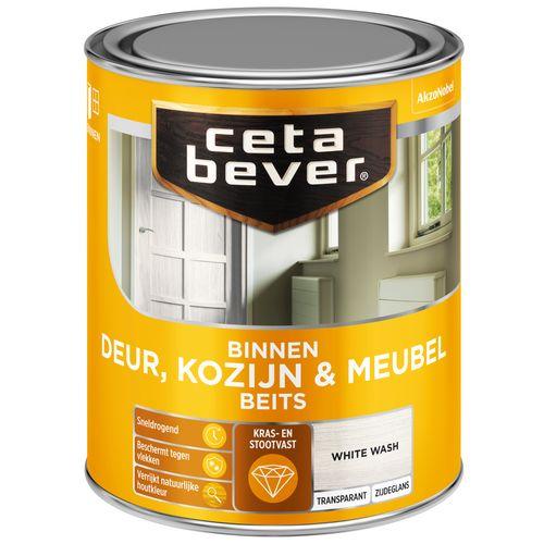 CetaBever Deur, Kozijn & Meubelbeits White wash Zijdeglans 0,75L