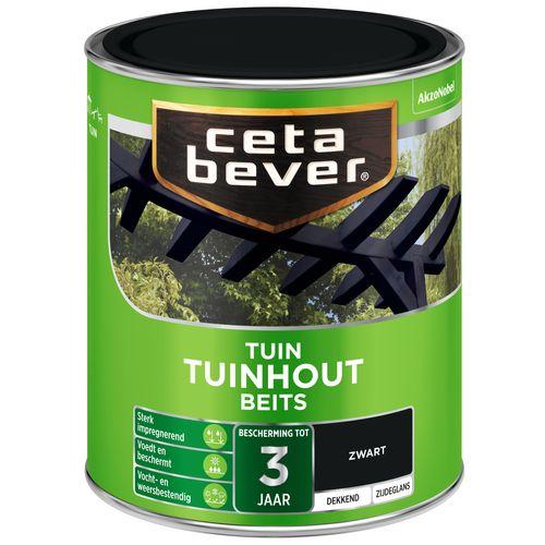 CetaBever tuinhoutbeits 250 750ml dekkend zwart