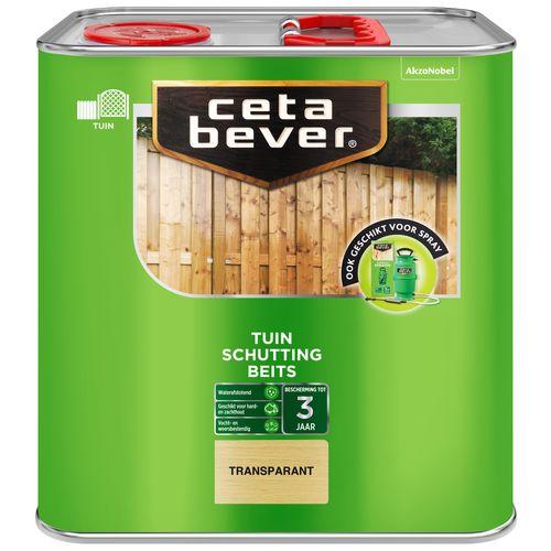 CetaBever Schuttingbeits Transparant Zijdeglans 2,5L