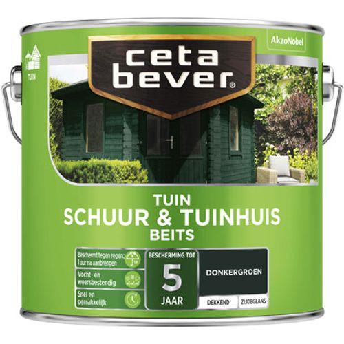 CetaBever Schuur & Tuinhuis beits Donkergroen Zijdeglans 2,5L