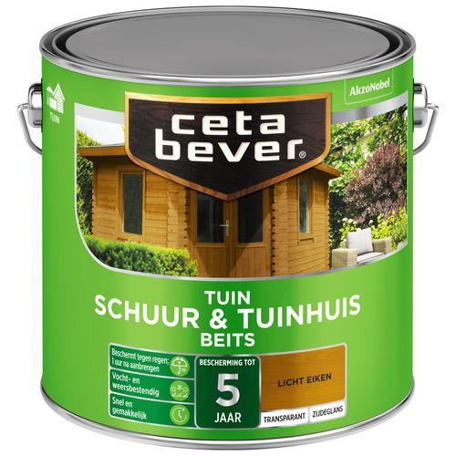 CetaBever Schuur & Tuinhuis beits Licht eiken Zijdeglans 2,5L