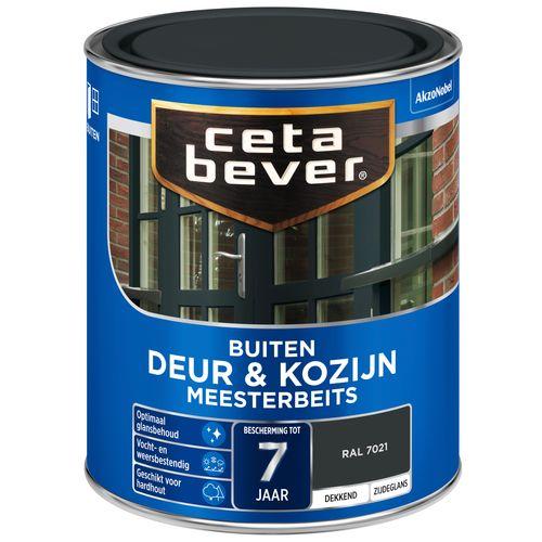 CetaBever Deur & Kozijn meesterbeits RAL 7021 Zijdeglans 0,75L