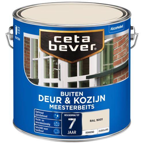 CetaBever Meesterbeits dekkend Deur & Kozijn RAL 9001 2,5L