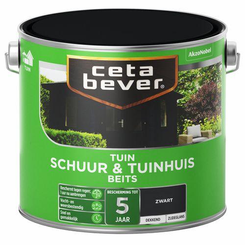 CetaBever Schuur & Tuinhuis beits Zwart Zijdeglans 2,5L
