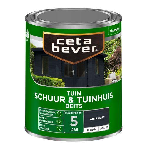 CetaBever Schuur & Tuinhuis beits Antraciet Zijdeglans 0,75L