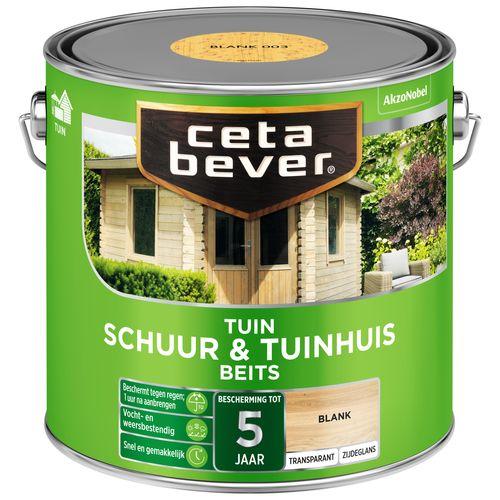 CetaBever Schuur & Tuinhuis beits Blank Zijdeglans 2,5L
