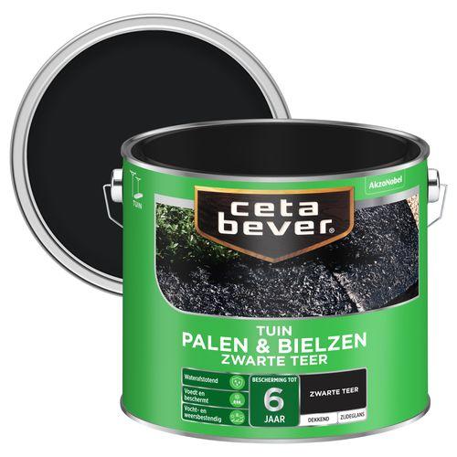CetaBever Palen & Bielzen Zwart Mat 2,5L