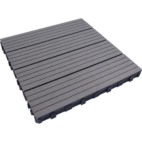 Elephant terrastegel Click composiet 11mm grijs FSC 24x300x300mm