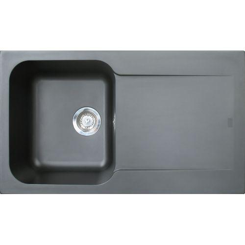 EsseBagno spoelbak Lisse zwart 1 bak 86x50cm
