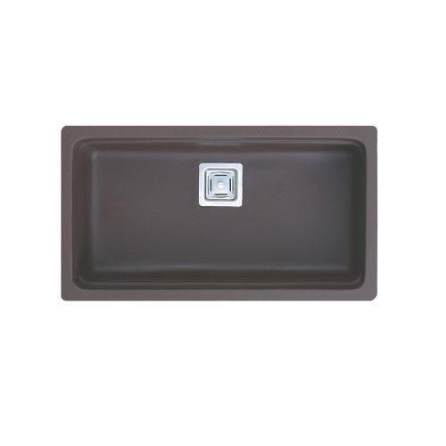 EsseBagno spoelbak Carrit graniet zwart 1 bak 78x43,5cm