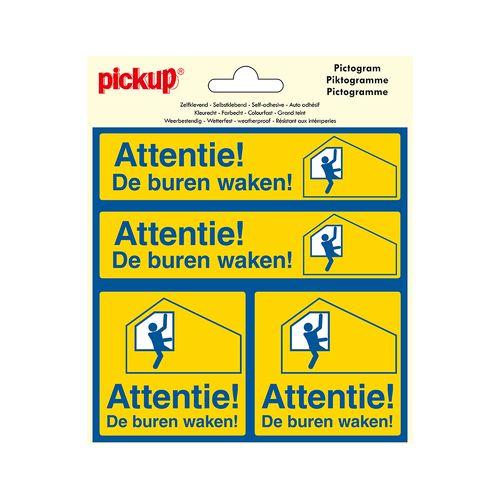 Pickup pictogram 'attentie! buurtpreventie!' 4st