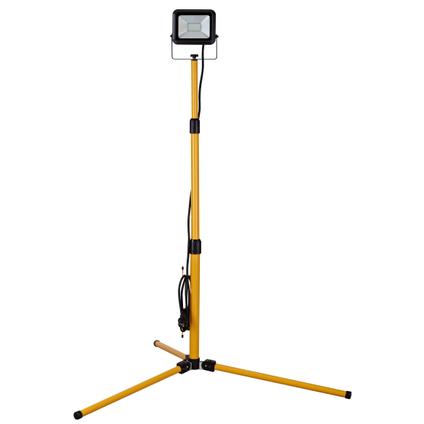 Projecteur de chantier trépied Sencys LED 'Ultra-slim' jaune noir 20W