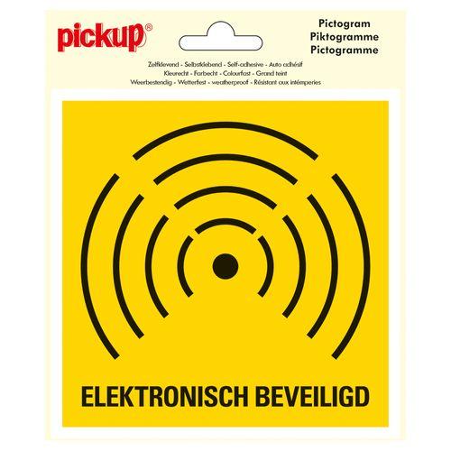 Pickup sticker Elektronisch beveiligd - alarm 15x15cm