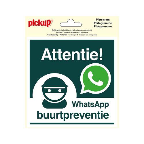 Pickup sticker WhatsApp Buurtpreventie 15x15cm