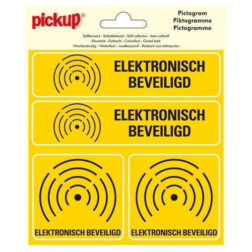Pickup sticker Elektronisch beveiligd - alarm15x15cm