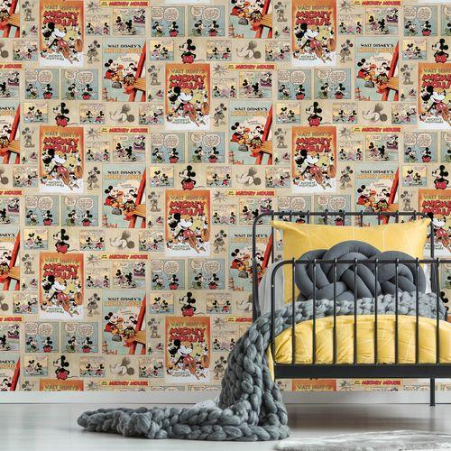 Disney Papierbehang Mickey Vintage meerkleurig