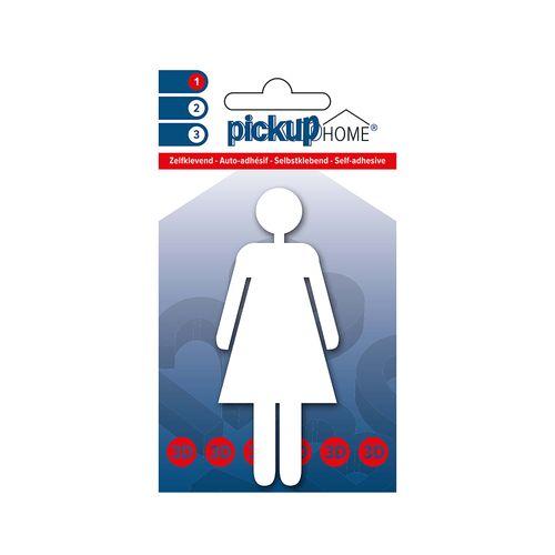 Pickup zelfklevend pictogram Home 3D Dia vrouw wit