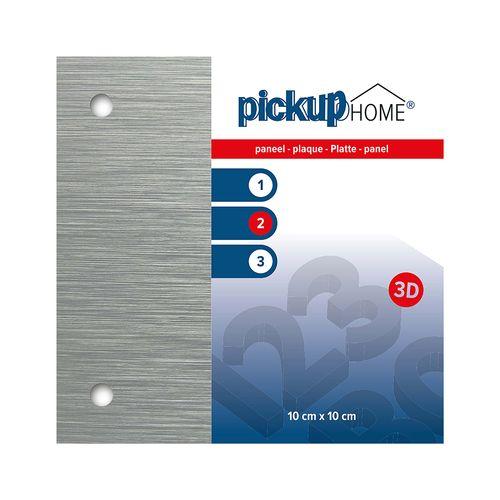 Pickup 3D Home aluminium plaat 10x10cm